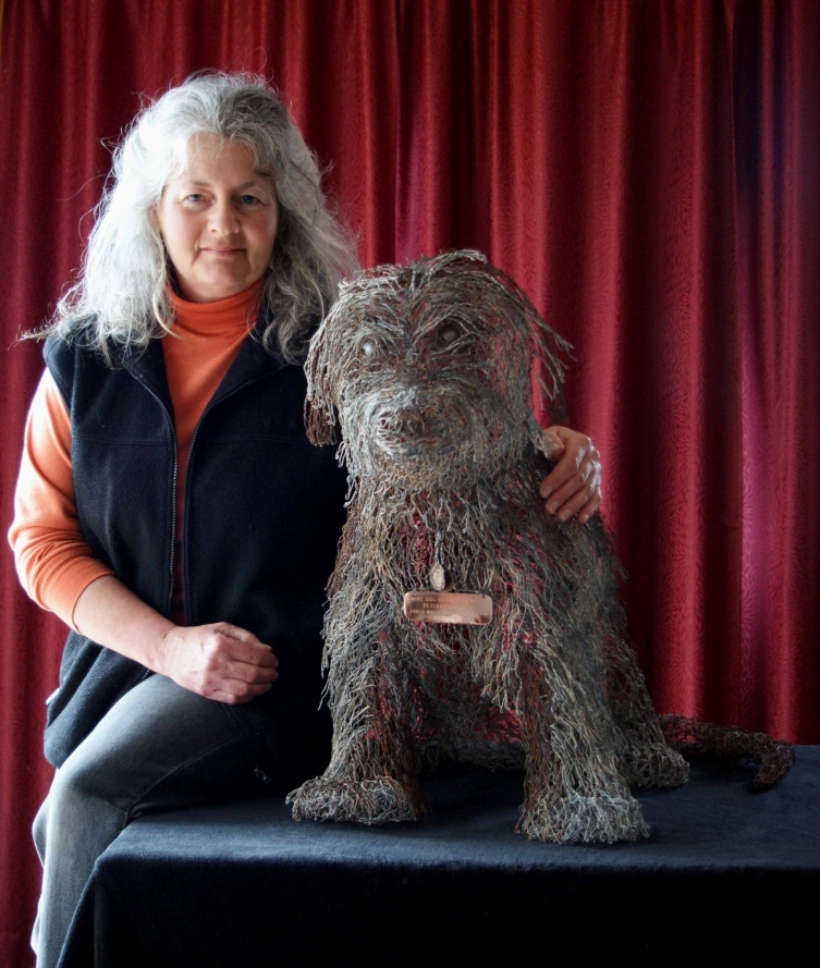 Barbara Parry with Wiry Bob the Dog